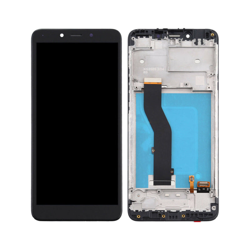 LG K20 2019 LCD Screen Replacement With Frame Black