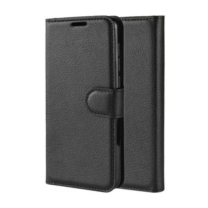 Samsung Galaxy A20s Wallet Case Cover PU Leather Black