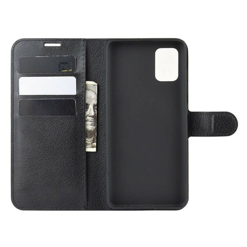 Samsung Galaxy A51 Wallet Case Cover PU Leather Black