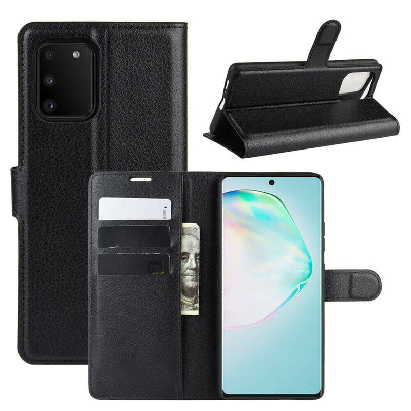 Samsung Galaxy S10 Lite Wallet Case Cover PU Leather Black