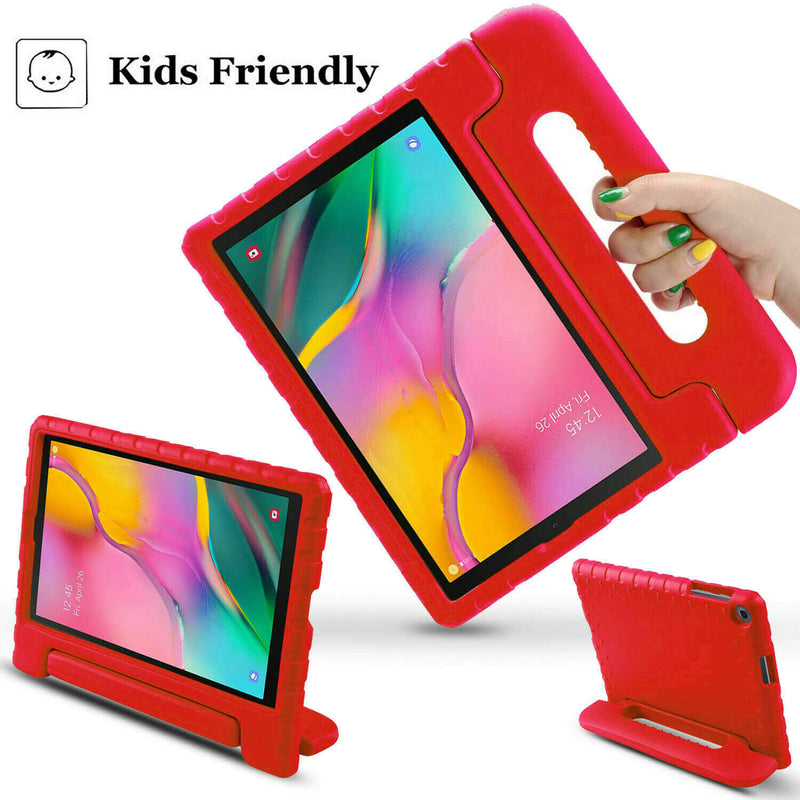 "Samsung Galaxy Tab A 10.1"" 2019 Kids Case Shockproof Cover With Stand Red"
