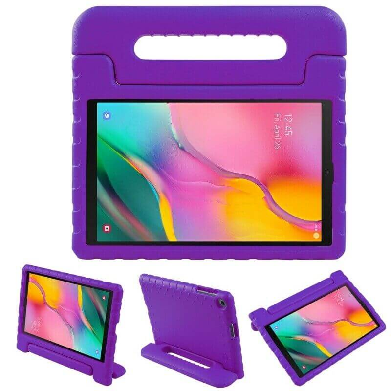 "Samsung Galaxy Tab A 8.0"" 2019 Kids Case Shockproof Cover With Stand Purple"