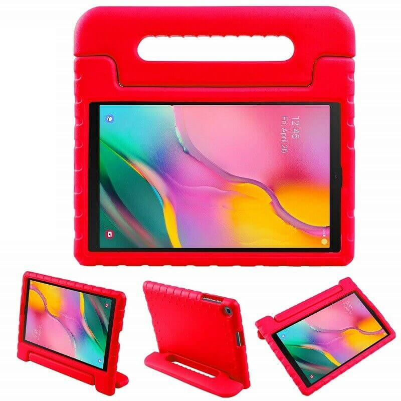 "Samsung Galaxy Tab A 8.0"" 2019 Kids Case Shockproof Cover With Stand Red"