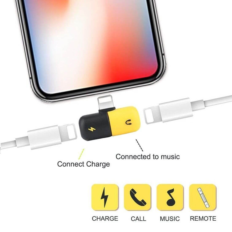 iPhone Dual Lightning Splitter for Audio & Charging