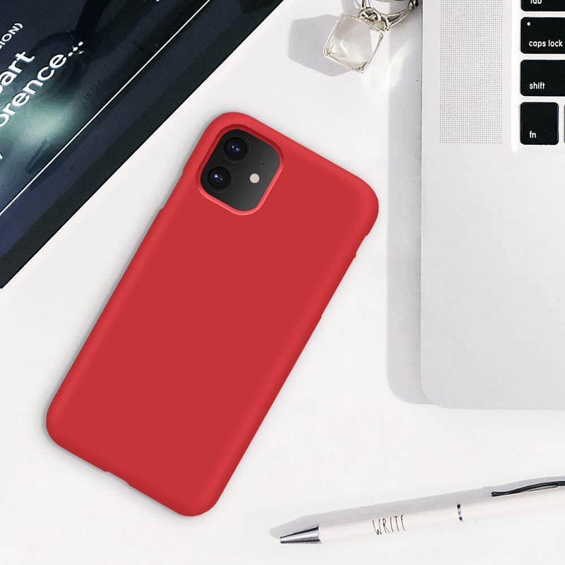 Liquid Silicone Case For Apple iPhone 11 Luxury Thin Phone Cover Red