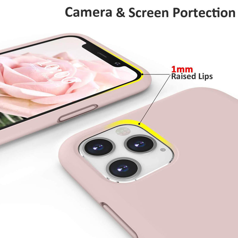 Liquid Silicone Case For Apple iPhone 11 Pro Max Luxury Thin Phone Cover Pink Sand