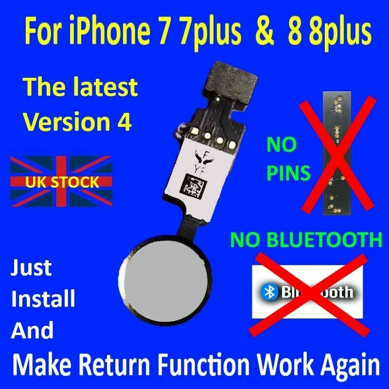 Apple iPhone 7 / 7 Plus & 8 / 8 Plus Home Button YF 4th Gen Flex Cable - White for [product_price] - First Help Tech