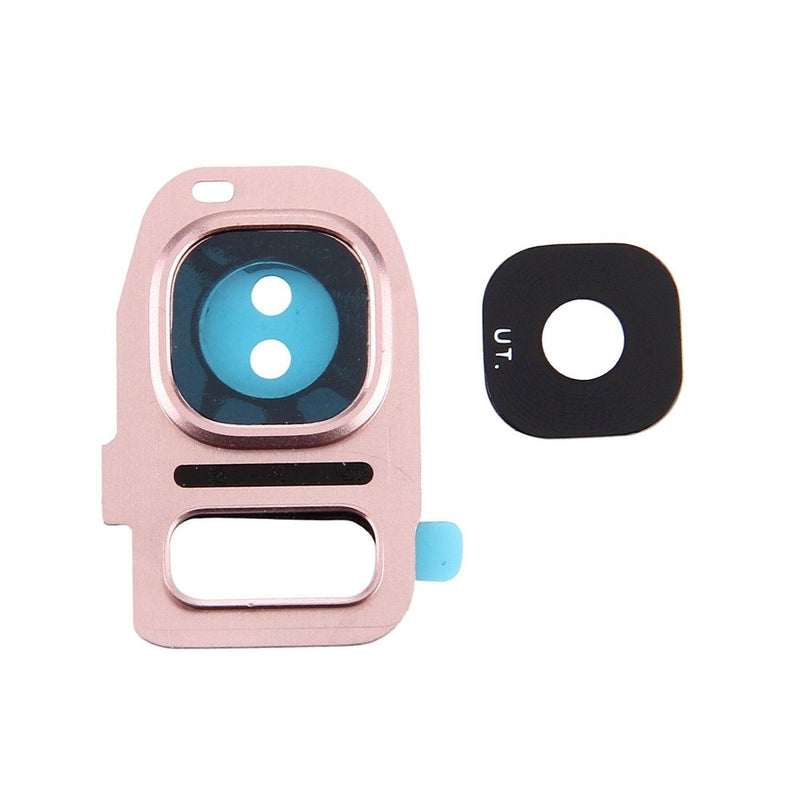 Samsung Galaxy S7 / S7 Edge Back Camera Lens Glass With Frame - Rose for [product_price] - First Help Tech