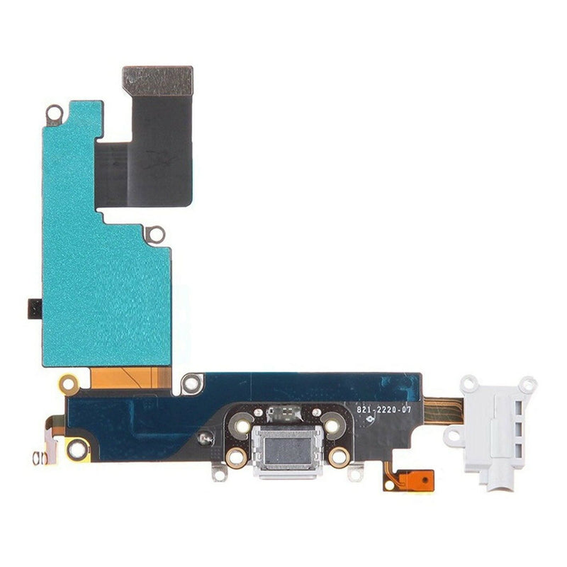 Apple iPhone 6 Plus Charging Port Flex Cable - White for [product_price] - First Help Tech