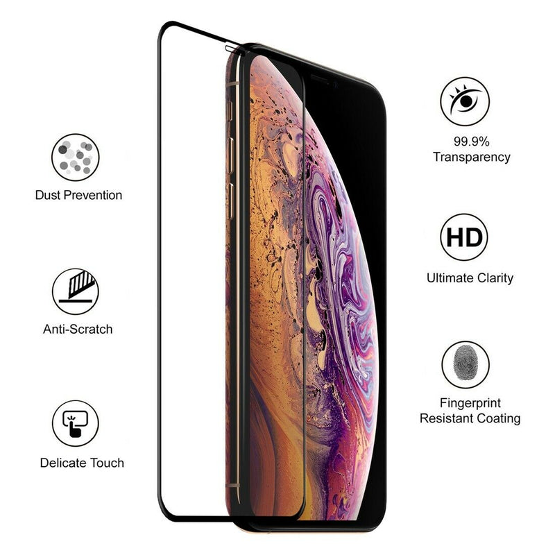Apple iPhone XS Max 9D Full Coverage Tempered Glass for [product_price] - First Help Tech