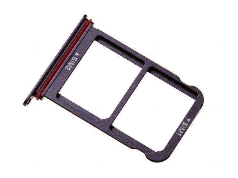 Huawei P20 Pro - Dual SIM Card Holder Tray Slot Black & Waterproof Seal for [product_price] - First Help Tech
