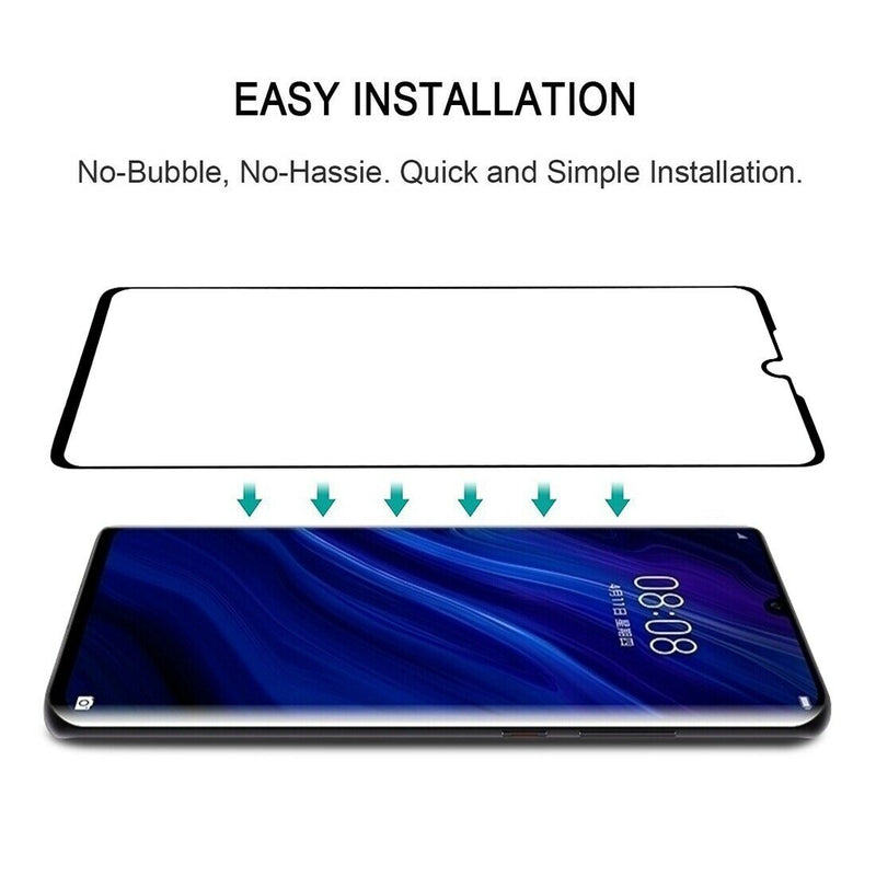 Huawei P30 Pro Full Coverage 9D Tempered Glass for [product_price] - First Help Tech