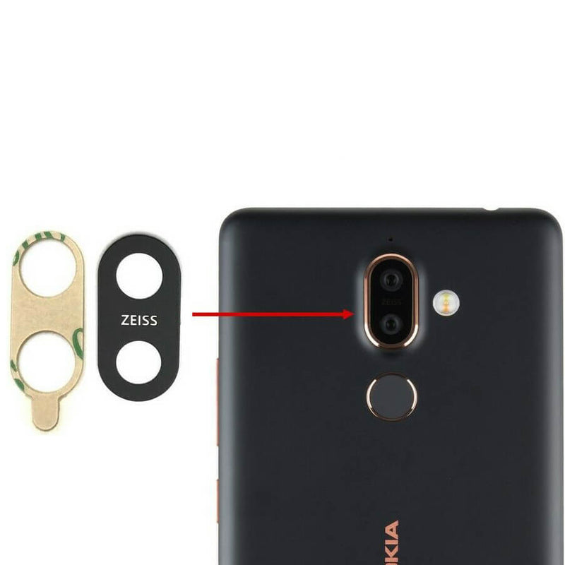 Nokia 7 Plus Camera Lens Glass With Adhesive