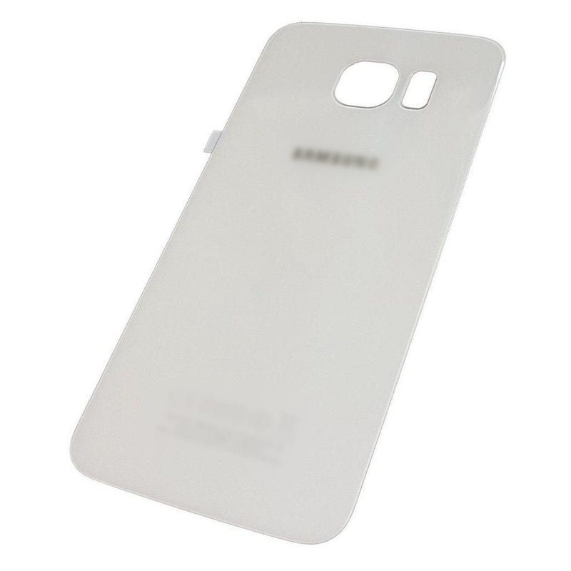 Samsung Galaxy S6 Back Battery Cover Rear Glass Panel With Adhesive - White for [product_price] - First Help Tech