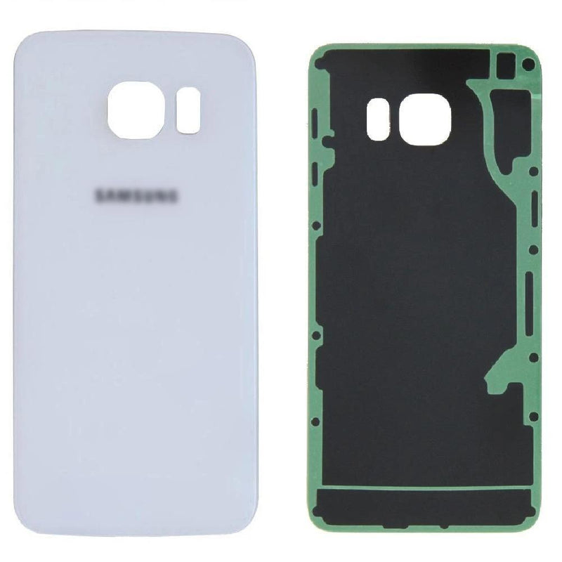 Samsung Galaxy S6 Edge+ / G928 Battery Cover Rear Glass Panel With Adhesive - White for [product_price] - First Help Tech