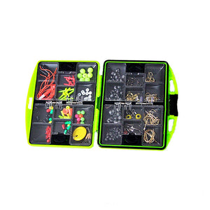 Basstrike Fishing Tool Set Fish Lure Bait Hook Tackle Swivels Box
