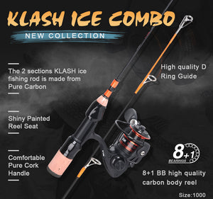 Ice Fishing Rods and Reel Combos Designed by Basstrike