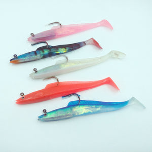 Basstrike Laser Lead Plating Fish Soft Swimbaits