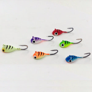 "Basstrike ""Clownfish"" Head Ice Fishing Jig"