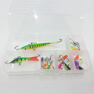 Basstrike Ice Fishing Minnows and Jig Heads Kits Box