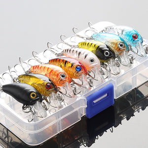 Mixed Colors Hard Bait Fishing Lure Crankbaits Set 5/8pcs