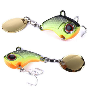 Rotating Metal VIB vibration Bait Spinner Spoon Fishing Lures