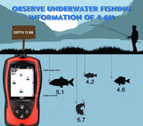 Rechargeable Wireless Sonar for Fishing 45M Water Depth Fishing Finder