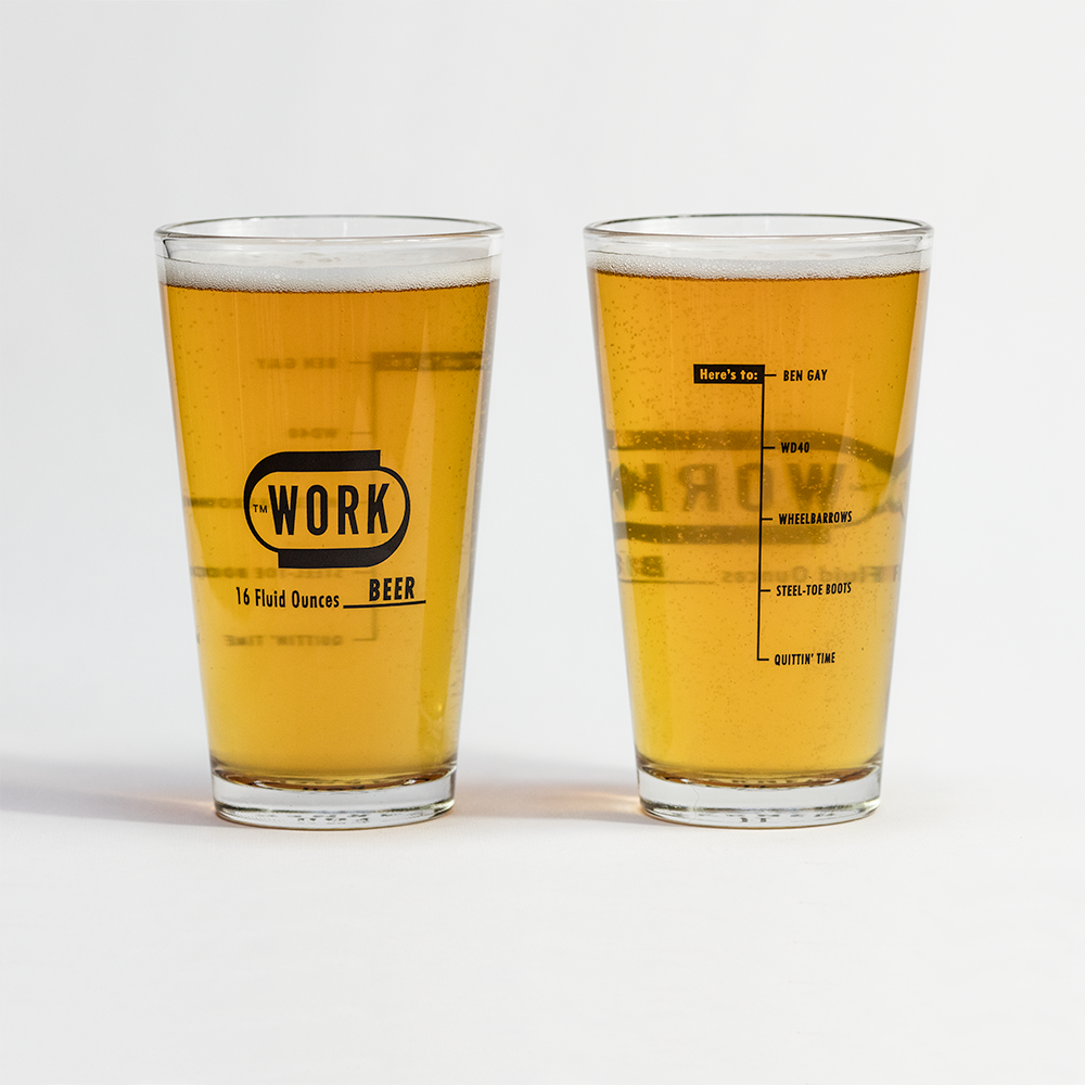 WORK Beer Glasses