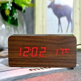 Kulgadgets brown red FiBiSonic Modern Home decor white LED Alarm Clock.