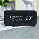 Kulgadgets FiBiSonic Modern Home decor white LED Alarm Clock.