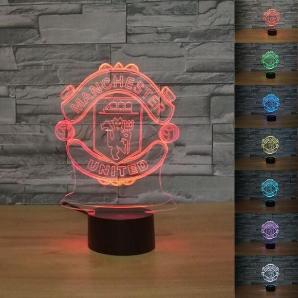 Kulgadgets Touch Switch Manutd 3D LED Luminaria Lava Lamp