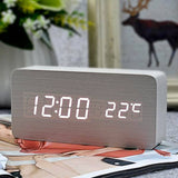 Kulgadgets white white FiBiSonic Modern Home decor white LED Alarm Clock.