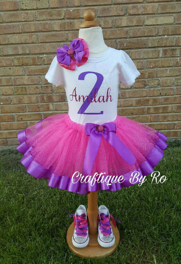 25e5148a08fe Doc Birthday - Pink and Purple Birthday Outfit - Doc Mcstuffins Birthday  Outfit - Doc McStuffins