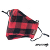 Red/Black Christmas Plaid Face Mask