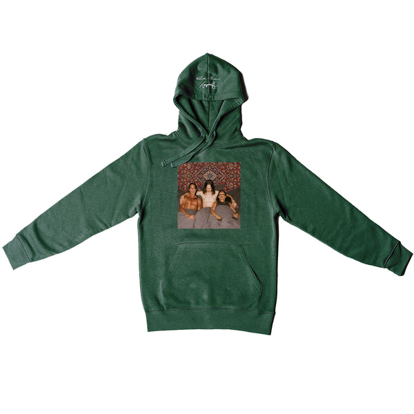 "Rick Owens X Tommy Cash Forest green ""Trinity"" hoodie"