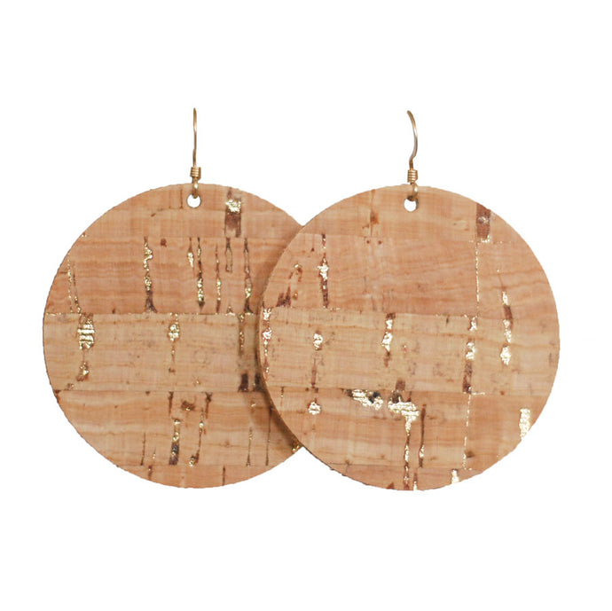Gold Flecked Cork Circle