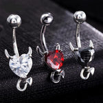 Devil Heart Belly Button Ring - The Creative Booth