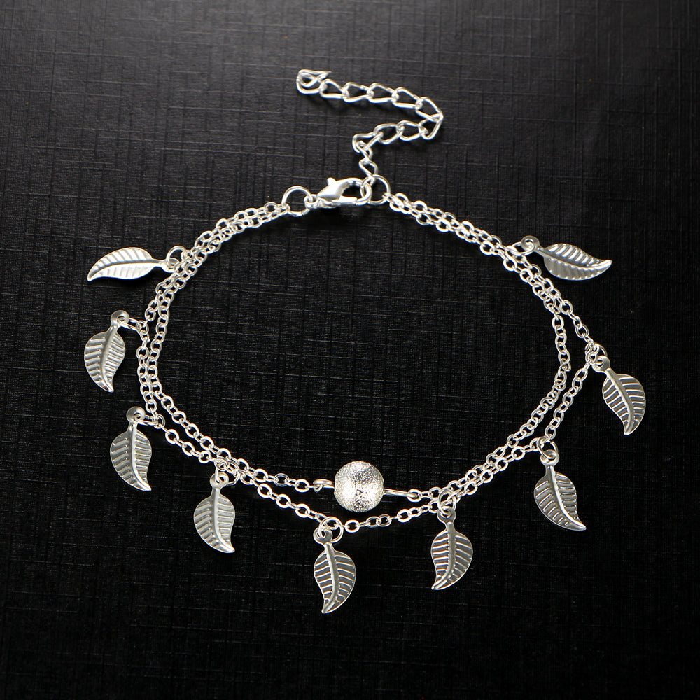 Handmade Bohemian Leaves Anklet - The Creative Booth