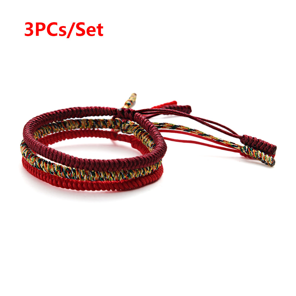 Handmade Lucky Tibetan Rope Bracelet - 40% Off + Free Shipping! - The Creative Booth