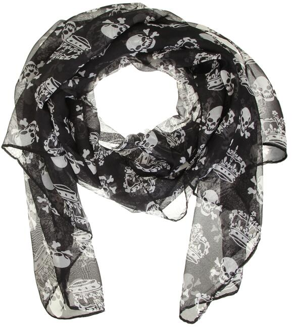 Chiffon Skull Scarf Shawl - The Creative Booth