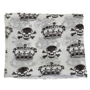 Chiffon Skull Scarf Shawl - 65% Off - The Creative Booth