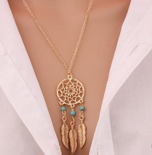Dream Catcher Pendant Necklace - The Creative Booth