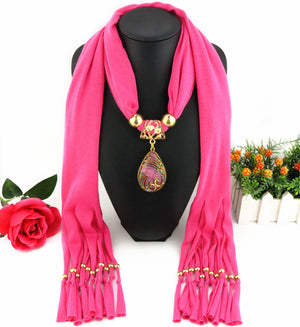 Water Drop Long Tassel Scarf - 35% Off! - The Creative Booth