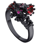 Black Skull Crown Ring - The Creative Booth