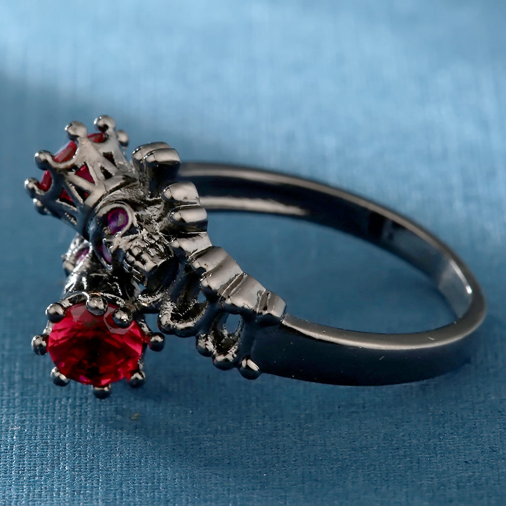 FREE! Black Skull Crown Ring - The Creative Booth