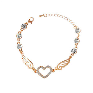 Zircon Angel Wing Bracelet