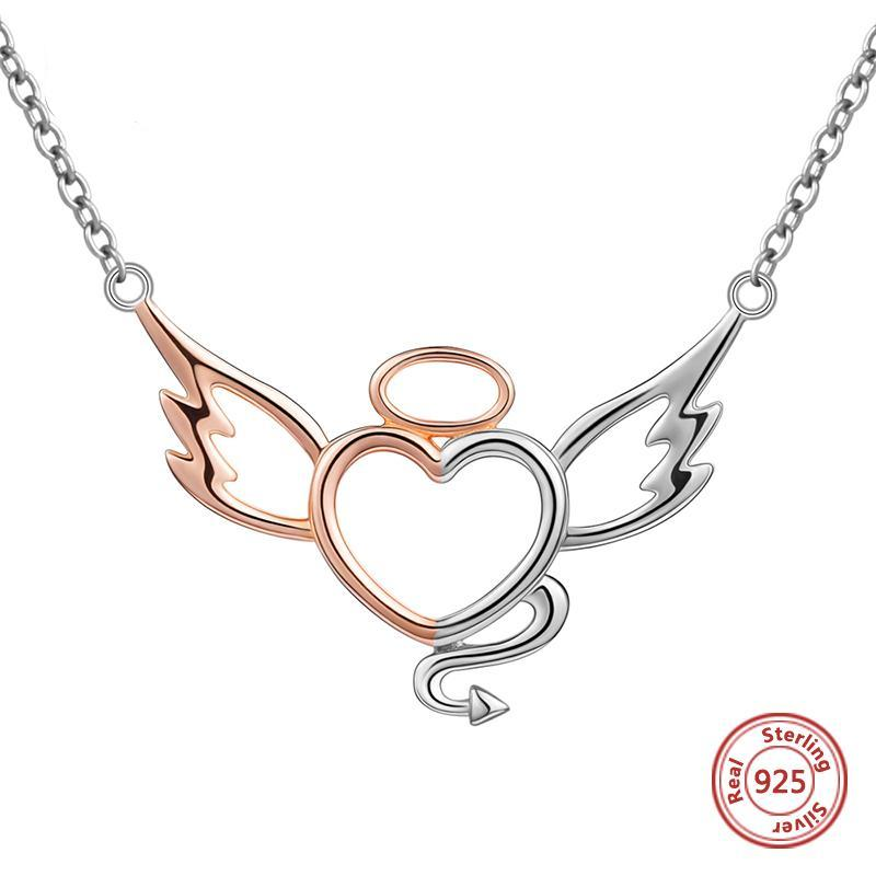 Angel and Devil Heart Wings Necklace - 30% OFF + FREE SHIPPING - The Creative Booth