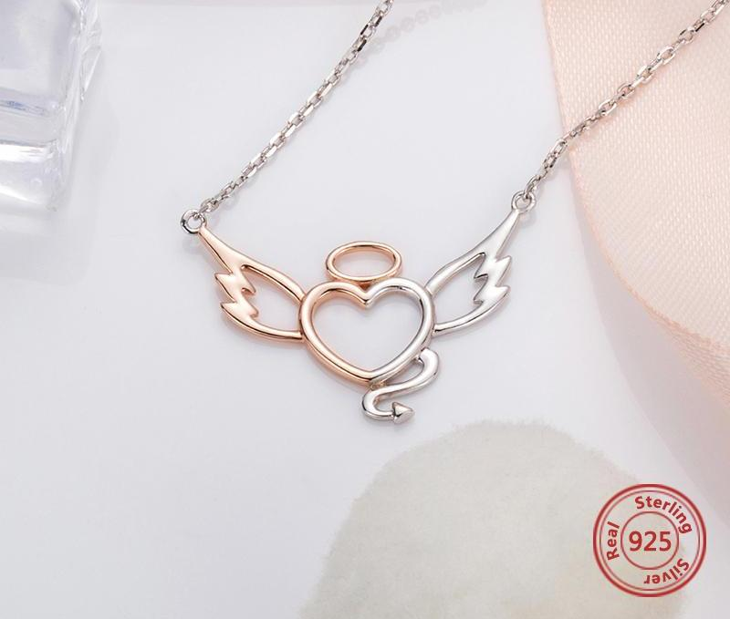 Angel and Devil Heart Wings Necklace - 65% OFF! - The Creative Booth