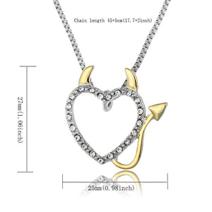 Heart Devil Necklace - 65% OFF! - The Creative Booth