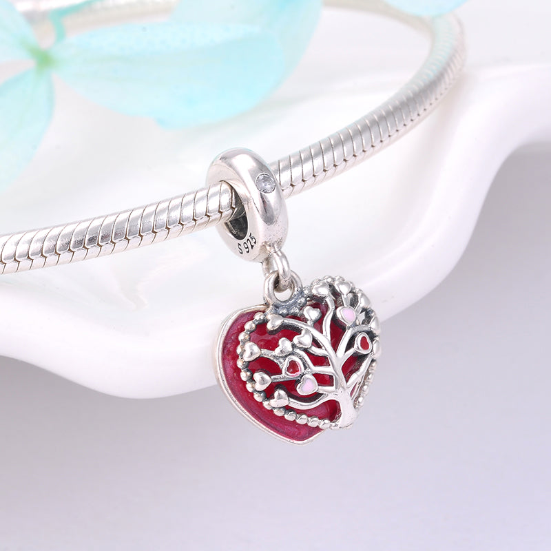 Heart Shaped Tree of Life Bracelet - The Creative Booth